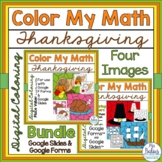 Digital Thanksgiving Math Coloring Place Value Google™ For