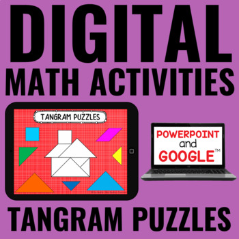 Digital Tangram Puzzles for Guided Math - for Google Classroom™