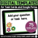 Digital Task Card Templates   Spring Themed