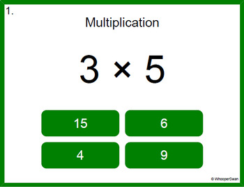 Digital Task Cards: 1-Digit by 1-Digit Multiplication