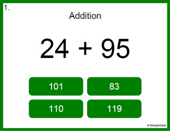 Digital Task Cards: 2-Digit Addition