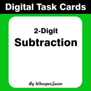 Digital Task Cards: 2-Digit Subtraction