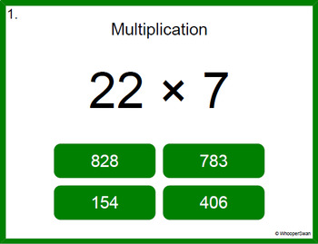 Digital Task Cards: 2-Digit by 1-Digit Multiplication