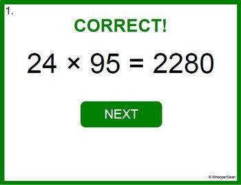 Digital Task Cards: 2-Digit by 2-Digit Multiplication