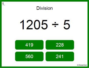 Digital Task Cards: 4-Digit by 1-Digit Division