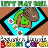 Inititial (Beginning)Sounds Baseball Activity- Boom Cards