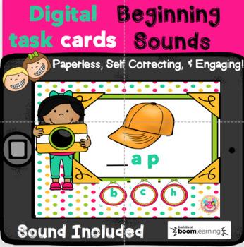 Digital Task Cards Beginning Sounds (Boom Cards)