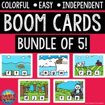 Digital Task Cards / Boom Cards™️ / Beginning Sounds BUNDLE