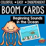 Digital Task Cards / Boom Cards™️ / Beginning Sounds in the Ocean