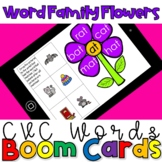 Decoding Word Families(CVC Words) Activity- Boom Cards for Distance Learning