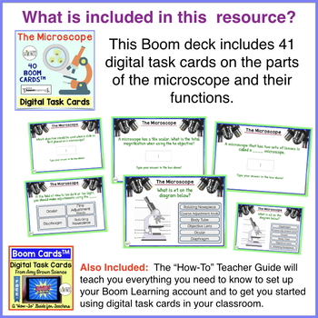 Boom Cards™ The Parts of the Microscope