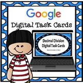 Digital Task Cards- Dividing Decimals by Wholes TEKS 5.3E 5.3F Google Classroom