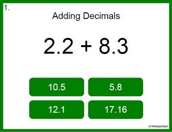 Digital Task Cards: Decimals Bundle