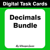 Digital Task Cards: Decimals Bundle