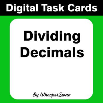 Digital Task Cards: Dividing Decimals