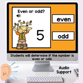 Digital Task Cards Even or Odd