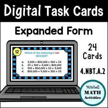 Digital Task Cards - Expanded Form