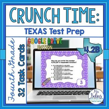 Distance Learning Task Cards Google Drive 4th Gr Place Value Test Prep TEKS 2.B