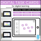 Digital Task Cards | Google Slides | Preschool, PreK, Kind