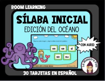 Boom Cards in Spanish- La sílaba inicial