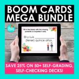 Spanish BOOM CARDS MEGA BUNDLE | Digital Task Cards