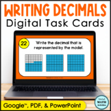 Digital Task Cards - Naming Decimals from Decimal Grid Models