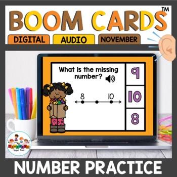 Digital Task Cards Number Line Practice