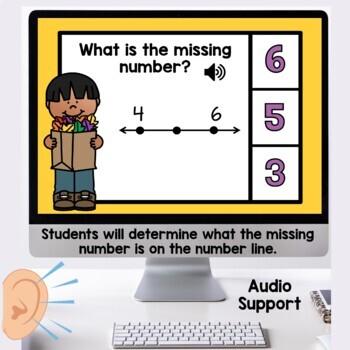 Number Line Practice November Themed