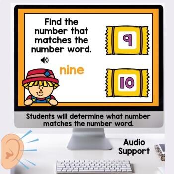 Digital Task Cards Number Words