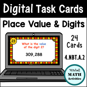 Digital Task Cards - Place Value & Digits