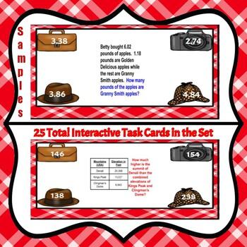 Digital Task Cards-Problem Solving Detectives: Math Word Problems