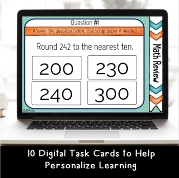 Digital Task Cards: Rounding, Estimating, and Multi-Step Word Problem Review