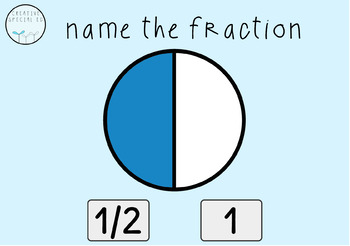 Digital Task Cards: Simple Fractions