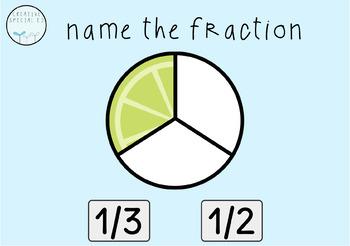 Simple Fractions Digital Task Cards