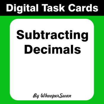 Digital Task Cards: Subtracting Decimals