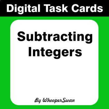 Digital Task Cards: Subtracting Integers