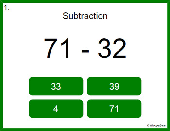 Digital Task Cards: Subtraction Bundle