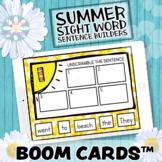 Digital Task Cards - Summer Sentence Builders - BOOM CARDS