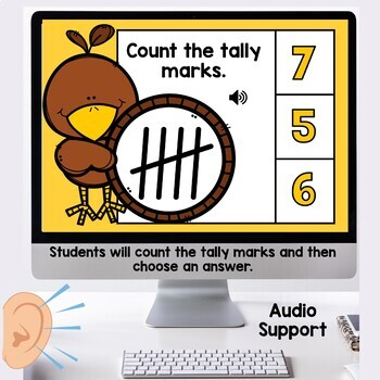 Digital Task Cards Tally Marks