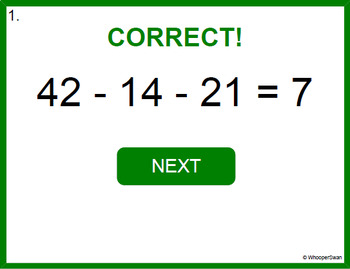 Digital Task Cards: Three 2-Digit Subtraction