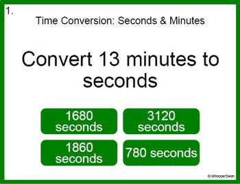 Digital Task Cards: Time Conversion Bundle