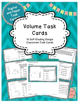 Volume Task Cards- Digital Version