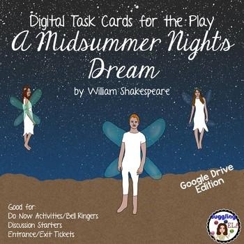 Digital Task Cards for A Midsummer Night's Dream (Google Drive Edition)