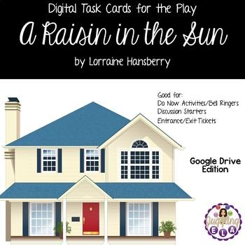 Digital Task Cards for A Raisin in the Sun by Lorraine Hansberry (Google Drive)