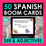 SER and Adjectives Spanish BOOM CARDS | Digital Task Cards