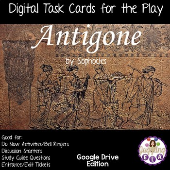 Digital Task Cards for Antigone by Sophocles (Google Drive Edition)