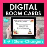 E-I Stem Changing Verbs Spanish BOOM CARDS   Digital Task Cards