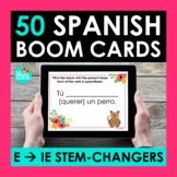 E-IE Stem changing Verbs Spanish BOOM CARDS   Digital Task Cards
