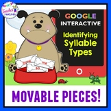 Google Classroom Activities 6 Syllable Types (Dog Theme) Digital Task Cards