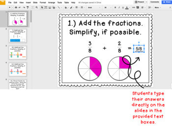 Digital Task Cards for Google Classroom: Adding & Subtracting Fractions